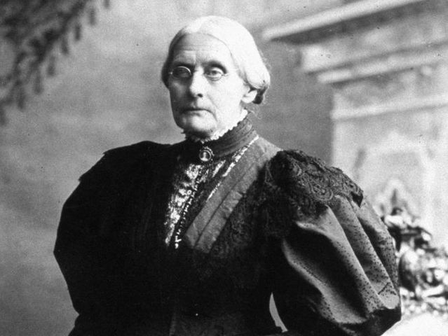 It's American suffragette Susan B. Anthony!