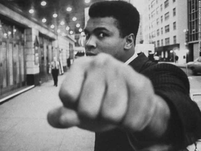 It's Vietnam War protestor (and world-class boxing champion) Muhammed Ali!