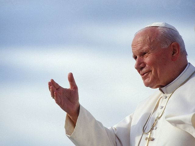 It's Pope John Paul II, who was Poland's first pope and taught compassion worldwide.