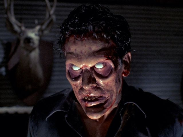 Evil Dead zombies get extra eye hollows for that super sunken six feet under chic look.
