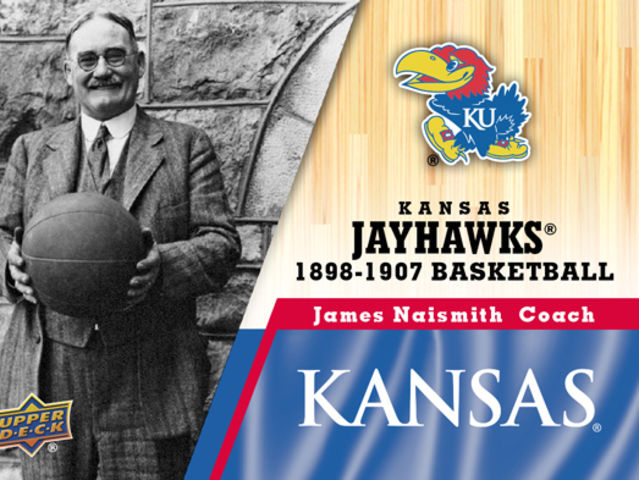 James Naismith once coached at Kansas, where their court is named after him.