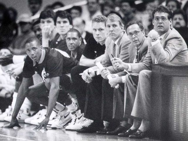 Popovich was an assistant coach under Larry Brown at Kansas from 1986-87.