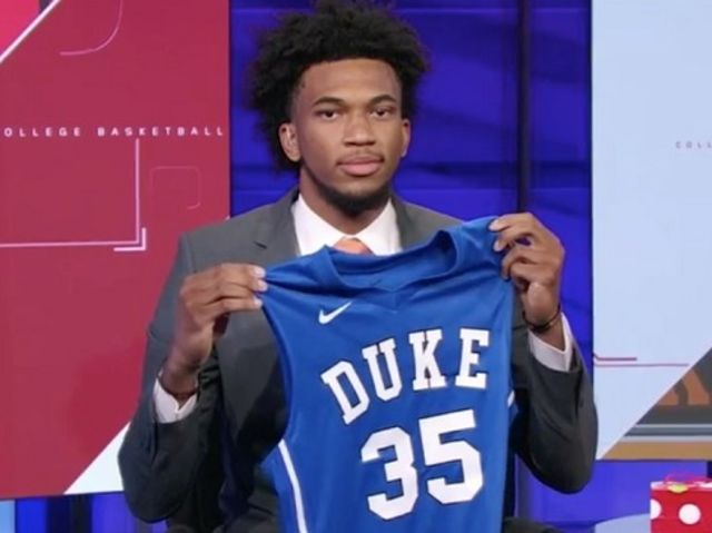 including the 2018 #1 overall recruit, Duke has had Harry Giles, Marvin Bagley, and R.J. Barrett in three consecutive years.