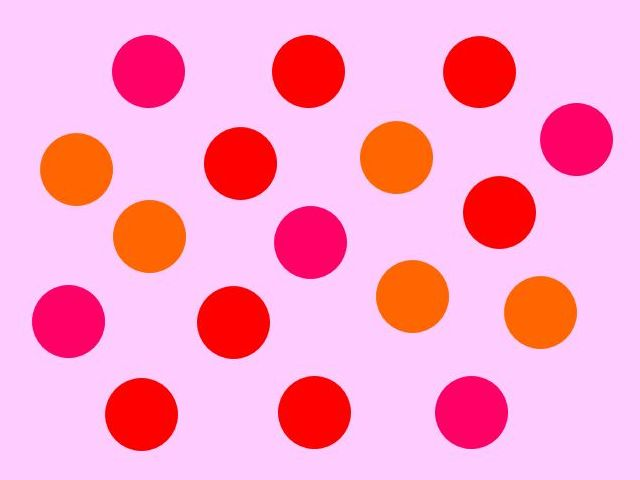 How many red dots can you see here?