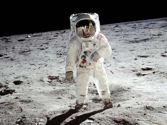 Who was the third human to walk on the moon?
