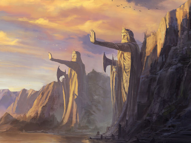 After fleeing their homeland, Elendil and his sons formed the kingdoms of _____ and Gondor.