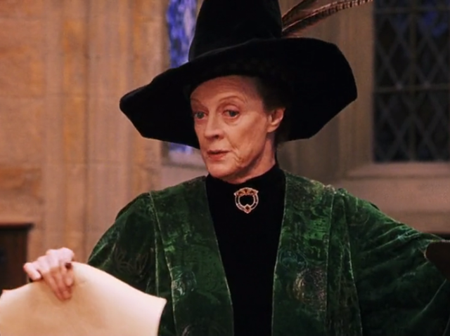 Tell me where else you're going to find a hat so iconic as on Professor McGonagall's head?
