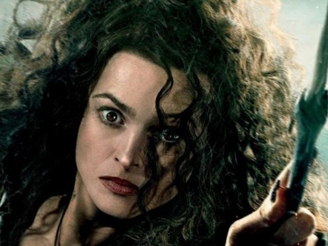 Who else is as curly-headed and crazy enough to put a wand in her mouth but Bellatrix Lestrange?