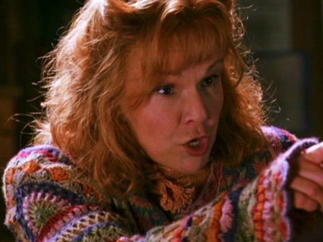 It's none other than the perpetually lovely but ever-scolding Molly Weasley.
