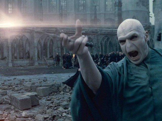 It's none other than Harry's strikingly bald archnemesis, Lord Voldemort!