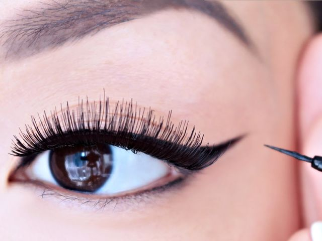 This is Eyeliner! People use eyeliner to outline their eyes, making them look larger and better defined!