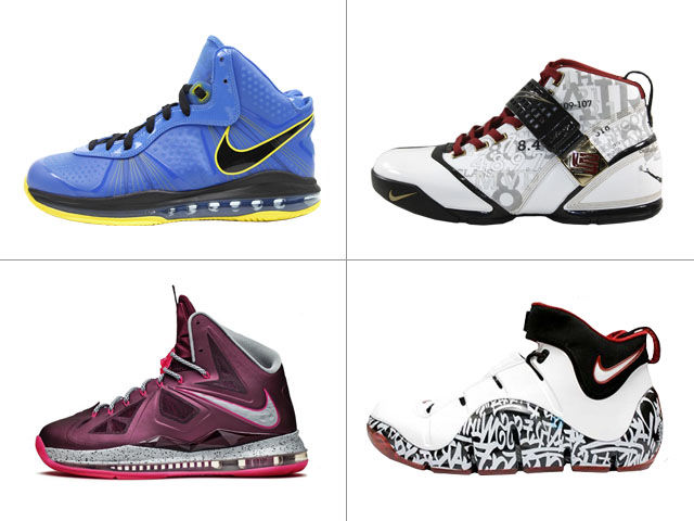 Which LeBron DIDN'T release with special packaging?