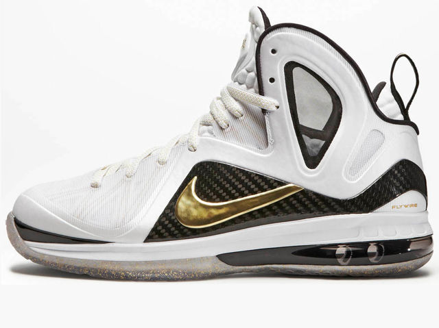 "LeBron clinched his first title wearing the ""Home"" colorway of the LeBron 9 P.S. Elite."