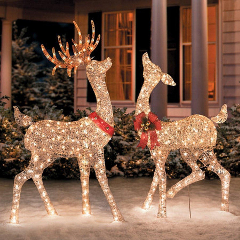 Outdoor Reindeer Decorations Uk Stylish Decorating Ideas Lighted Deer Sculptures Christmas Airn