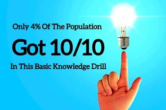 Only 4% Of The Population Got 10/10 In This Basic Knowledge Drill