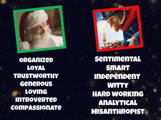 Is Your Personality Type Scrooge Or Santa?