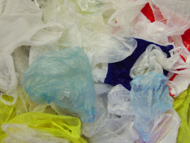 What should you do with a plastic bag?