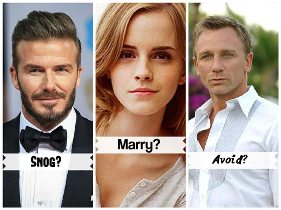 Who Should You Snog, Marry, Avoid?