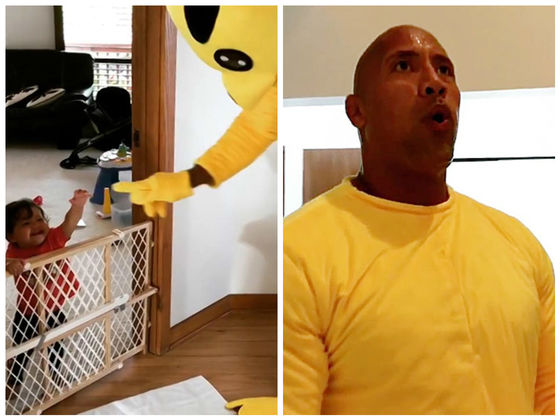 The Rock Put On A Pikachu Costume And Danced For His Daughter's First Halloween