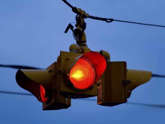 flashing red light intersection | Decoratingspecial.com