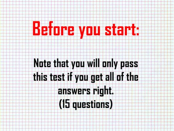 Getting The Perfect Score In This Test Means That You're Smarter Than Average