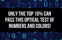 Only The Top 10% Can Pass This Optical Test of Numbers and Colors!
