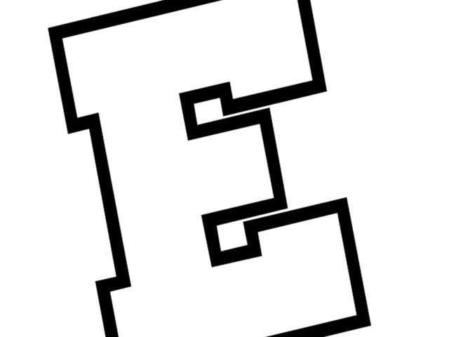 An assortment of Activity Village colouring pages featuring the letter E