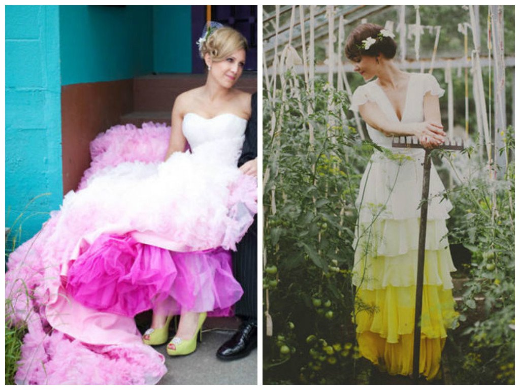 4d969e9a3e 23 Insanely Gorgeous Dip-Dyed Wedding Dresses That Will Make You Want To  Add More Color To Your Big Day!