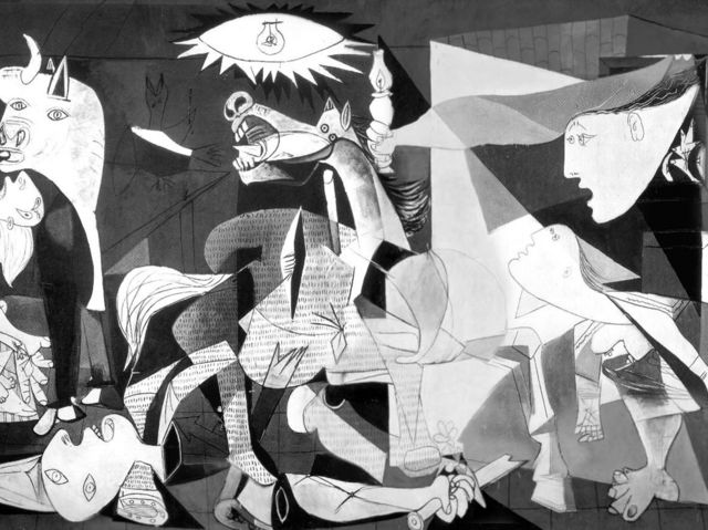 "pablo picasso guernica essay Free essay: ""guernica"" is one of the most well-known paintings in the world it was painted by pablo picasso in 1937 the painting itself measures 11ftx."