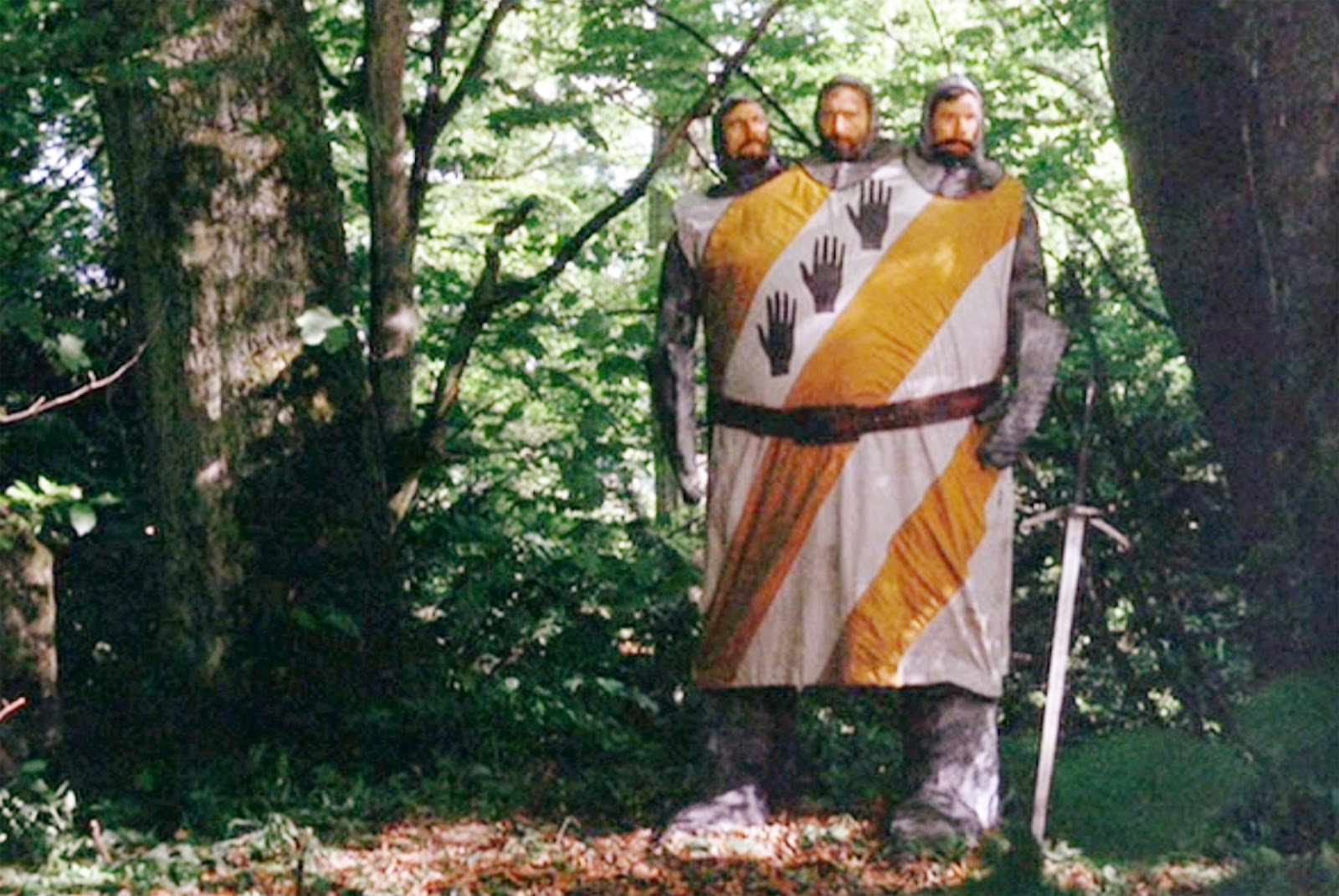 Image result for monty python and the holy grail 3 headed knight