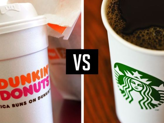 Are You Dunkin Donuts Or Starbucks? Overload A Latte Machine And Find Out!