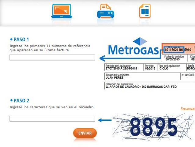 metrogas imprimir factura de pago
