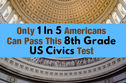 Only 1 In 5 Americans Can Pass This 8th Grade US Civics Test