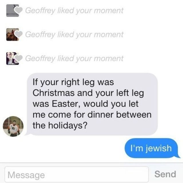 Not kosher, bro.