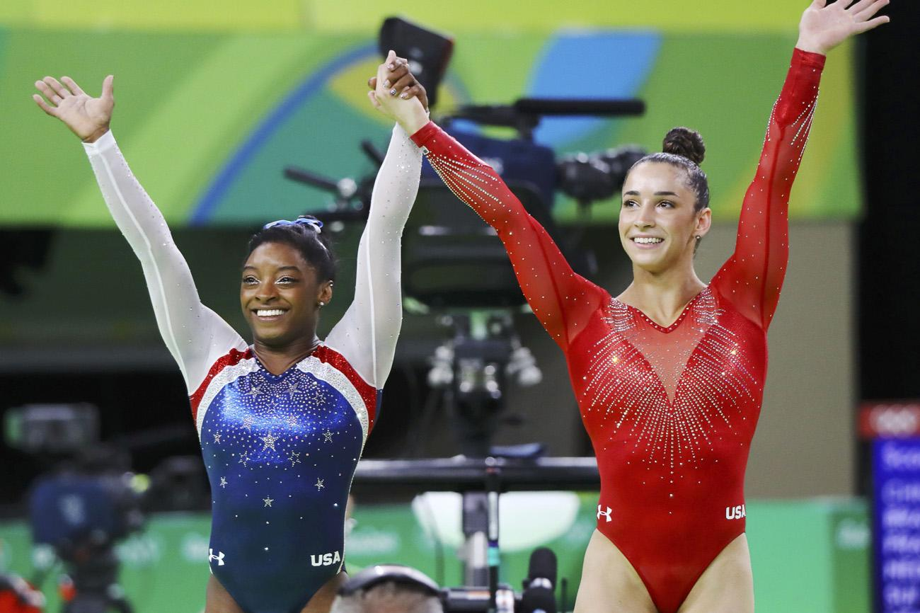 462eeacc01 Olympic Gymnasts Aly Raisman And Simone Biles Pose For Sports Illustrated's  Iconic Swimsuit Edition | Playbuzz