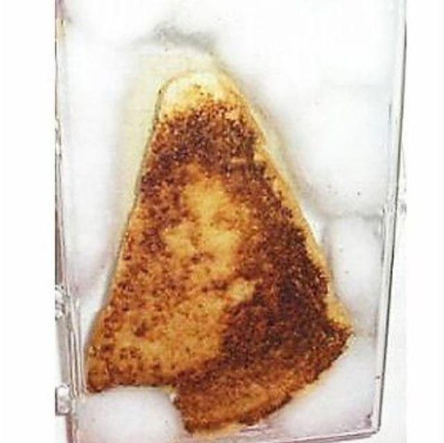 Un sándwich con la imagen de la virgen María