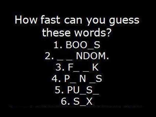 How Fast Can You Guess These Words?