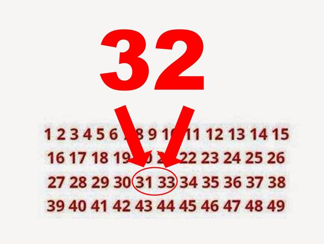 Here's the answer. Did you find which number is missing?