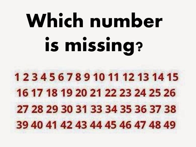 Can you see which number is missing in this puzzle?