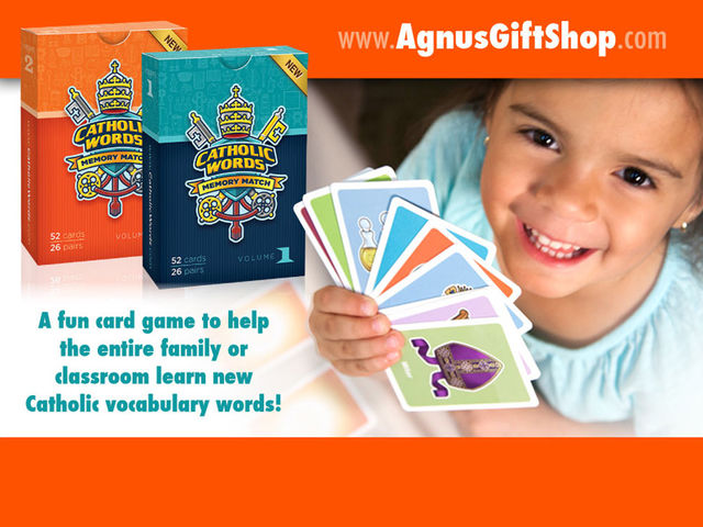 "This image created exclusively for the ""Catholic Words Memory Match"" card game available at www.AgnusGiftShop.com"