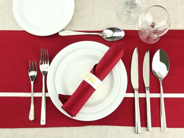 Comment doit-on mettre la fourchette et le couteau quand on a fini de manger ?