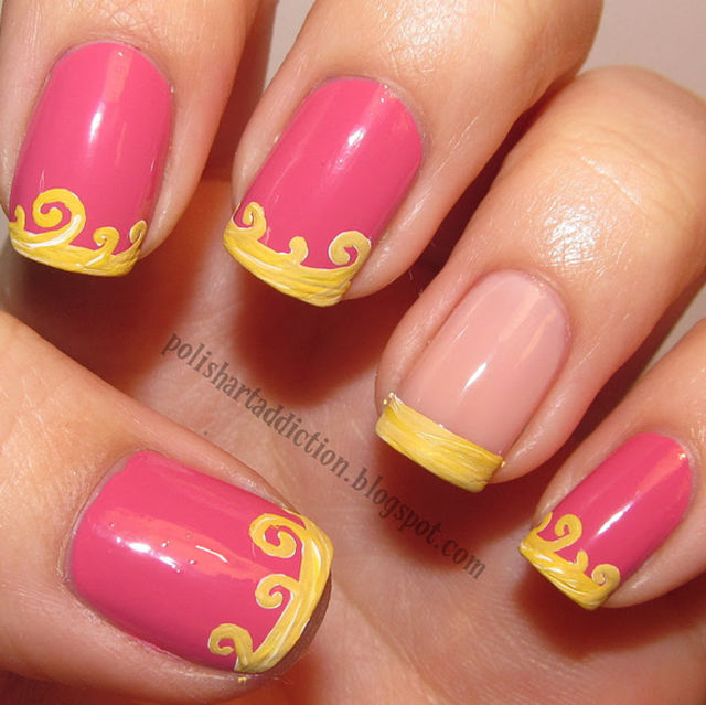 Disney Princess Tiana Waterfall Nail Art: These 21 Disney Nail Art Ideas Will Make You Want To Get A