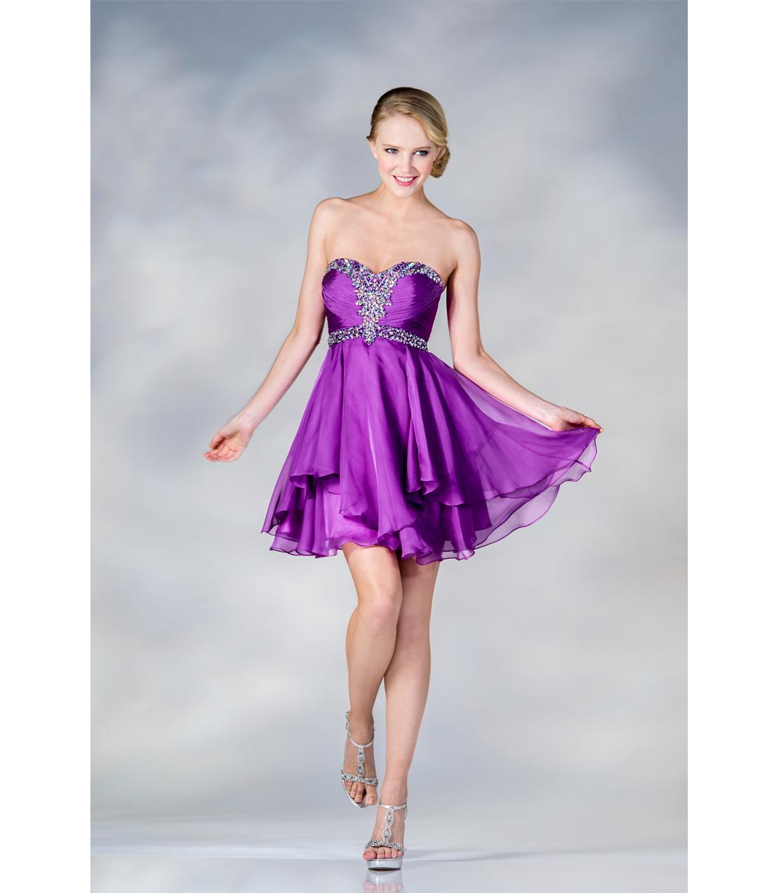 Short Formal Purple Dresses Image Collections Design Ideas