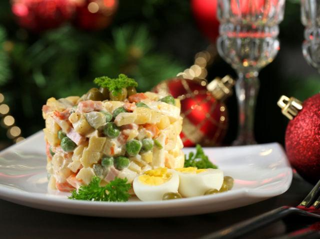 Салат для новогоднего стола фото
