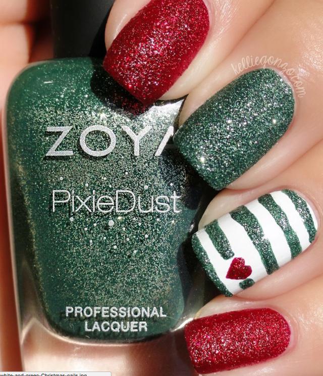 Decoración de uñas: diseños de uñas para la temporada de navidad ...