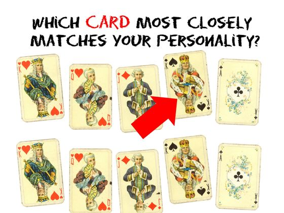 Which Card Most Closely Matches Your Personality?