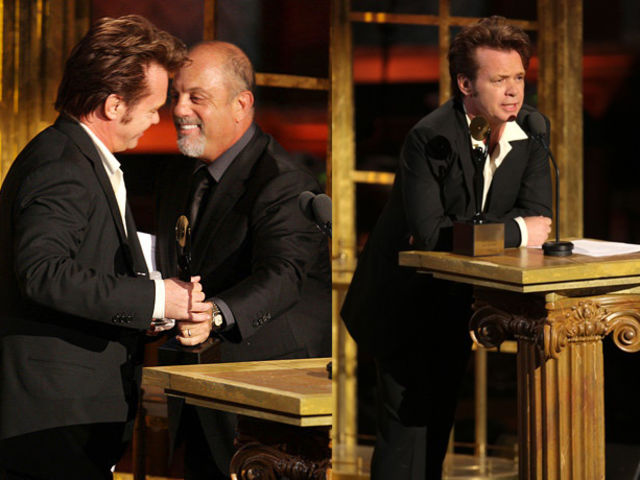 The induction ceremony took place in New York City in 2008, and John was inducted by his good friend Billy Joel.