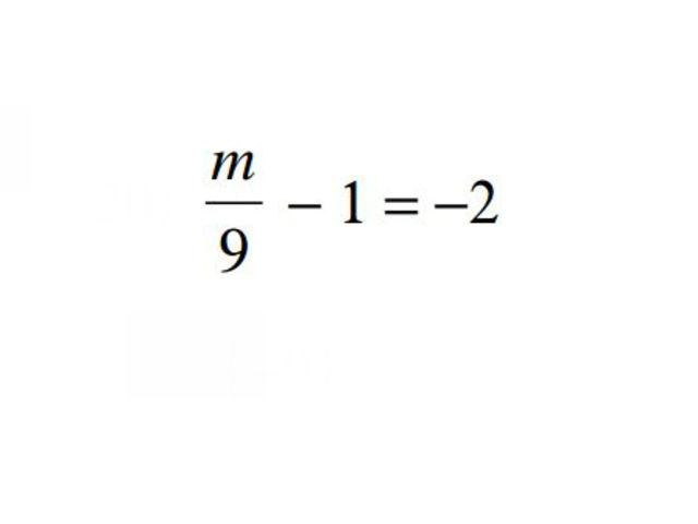 m = ?