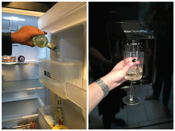 This Woman Miraculously Turned Her Fridge's Water Dispenser Into A Wine Dispenser
