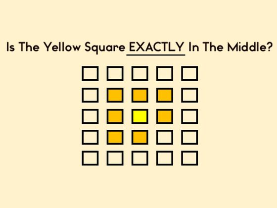 Only Visually Intellectual People Can Pass This Spot-The-Square Test